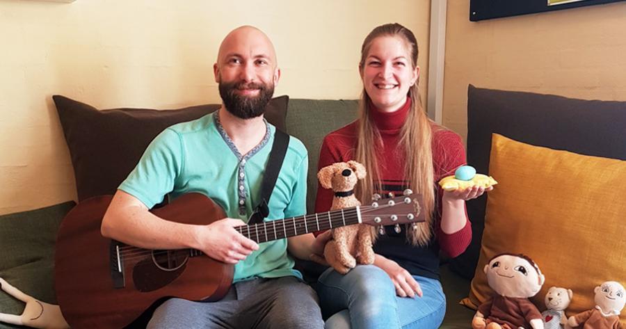 Musikpædagogerne Lise Behr og Christian Norvig